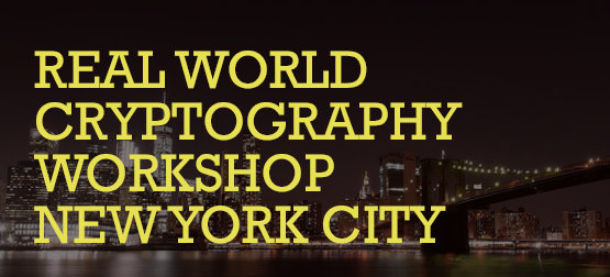 Real World Cryptography Workshop